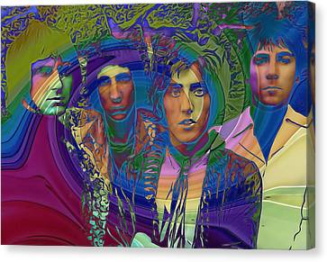 The Who Color Warp Canvas Print by Dan Sproul