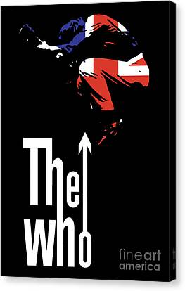 Guitar Canvas Print - The Who No.01 by Caio Caldas
