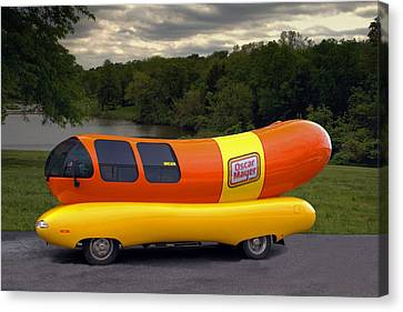 Canvas Print featuring the photograph The Wienermobile by Tim McCullough