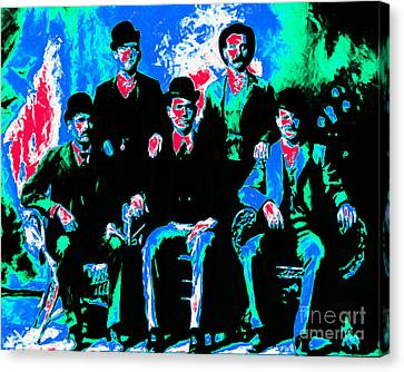The Wild Bunch 20130212m135 Canvas Print by Wingsdomain Art and Photography