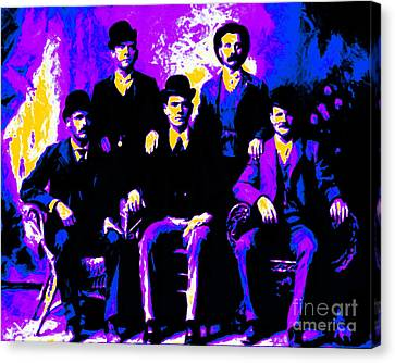 The Wild Bunch 20130212m68 Canvas Print by Wingsdomain Art and Photography