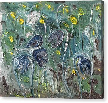 The Wild Purple Flowers Canvas Print by Francois Fournier