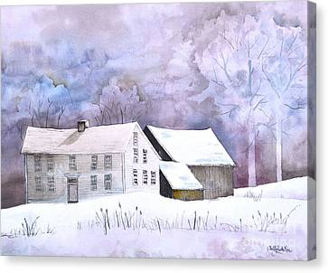 The Wilder Homestead Canvas Print by Sally Rice