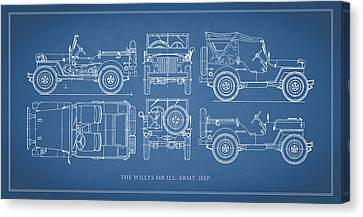 The Willys Jeep Canvas Print by Mark Rogan