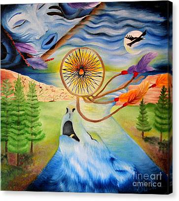 The Wind And The Wild Canvas Print by Stephanie Koenig