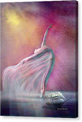 Ballet Dancers Canvas Print - The Wind Fairy by Angela A Stanton