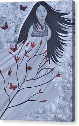 The Wind Of The Spirit Acrylic Painting By Saribelle Rodriguez Canvas Print by Saribelle Rodriguez