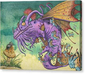 The Wind Whispered Salamanka...and They Came Canvas Print