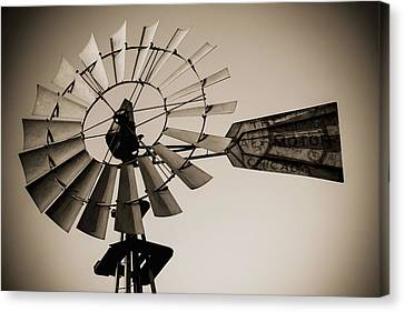 Canvas Print featuring the photograph The Windmill by Amber Kresge