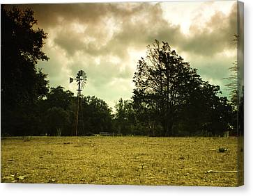Canvas Print featuring the photograph The Windmill by Susan D Moody