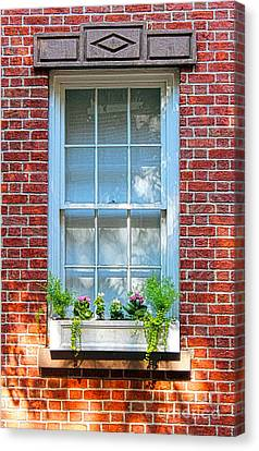 Canvas Print featuring the photograph The Window In The Afternoon by Sebastian Mathews Szewczyk