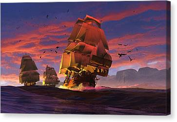The Winds Of Triton Canvas Print by Dieter Carlton