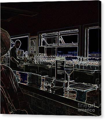 The Wine Bar Canvas Print by Connie Fox