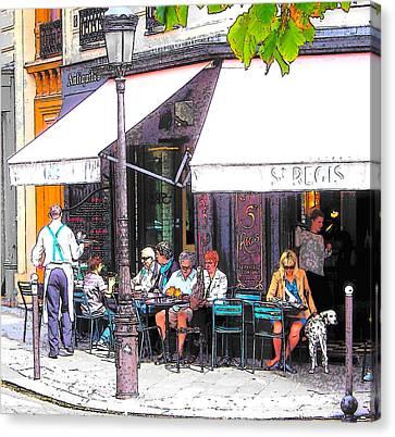 The Wine Bar In Paris Canvas Print