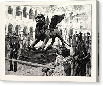 San Marco Canvas Print - The Winged Lion Of St by Italian School
