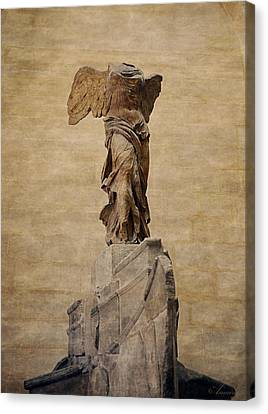 Nike Canvas Print - The Winged Victory Of Samothrace by Maria Angelica Maira