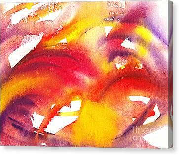 Lightening Canvas Print - The Wings Of Light Abstract by Irina Sztukowski