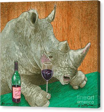 Red Wine Canvas Print - The Wino... by Will Bullas