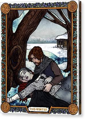 The Winter Bookplate Canvas Print