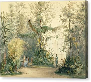 The Winter Garden Of The Hofburg Canvas Print by Austrian School