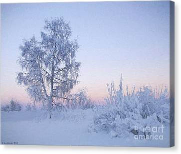 The Winter Light Canvas Print by Veikko Suikkanen