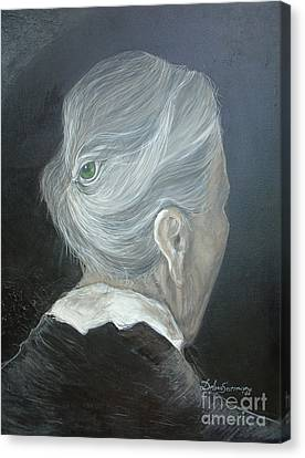 Canvas Print featuring the painting The Wisdom Eye  by Delona Seserman