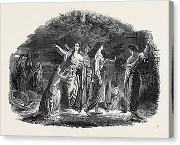 The Wise And Foolish Virgins Canvas Print