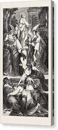 The Wise And Foolish Virgins, From The Picture By Arthur Canvas Print