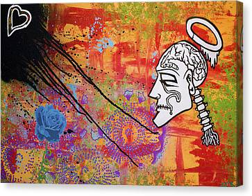 The Wise Man Strays Far From The Heart Canvas Print by Bobby Zeik