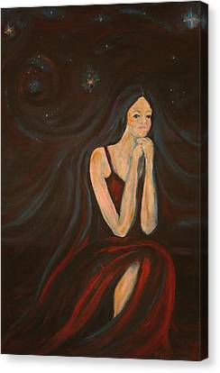 The Wish Canvas Print by Kathy Peltomaa Lewis