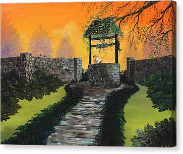 The Wishing Well Canvas Print by David Kacey