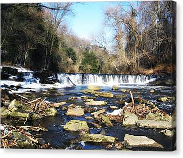 The Wissahickon Creek In February Canvas Print by Bill Cannon