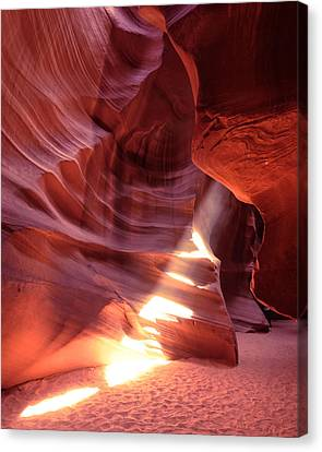 The Wizard Of Antelope Canyon Navajo Nation Page Arizona Canvas Print by Silvio Ligutti