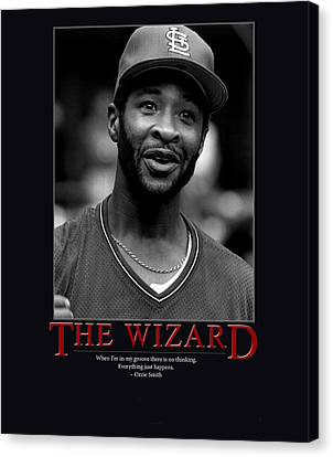 The Wizard Ozzie Smith Canvas Print by Retro Images Archive