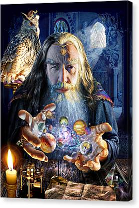 The Wizards World Canvas Print by Adrian Chesterman