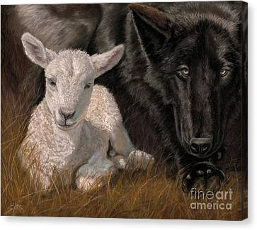 The Wolf And The Lamb Canvas Print