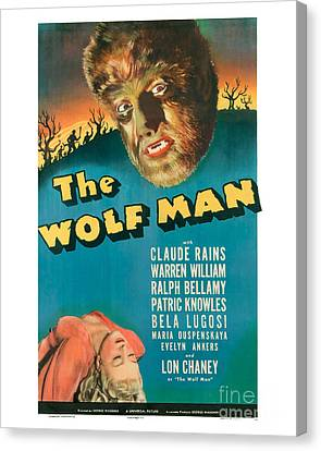 The Wolf Man Movie Poster Canvas Print