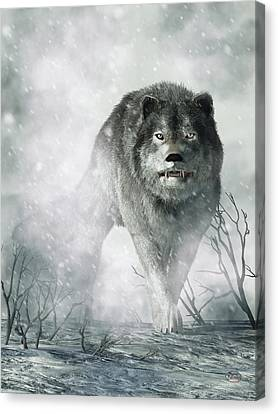 Animal Lover Canvas Print - The Wolf Of Winter by Daniel Eskridge