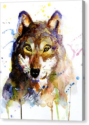 Canvas Print featuring the painting The Wolf by Steven Ponsford