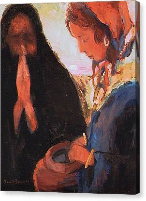 The Woman At The Well Canvas Print
