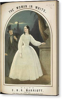 The Woman In White Canvas Print by British Library