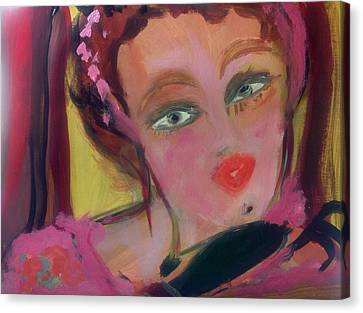 The Woman Who Whistled At The Opera Canvas Print by Judith Desrosiers