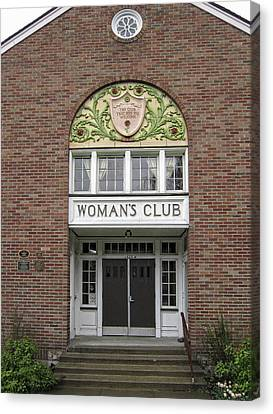 The Womans Club Bids You Welcome Canvas Print by Daniel Hagerman