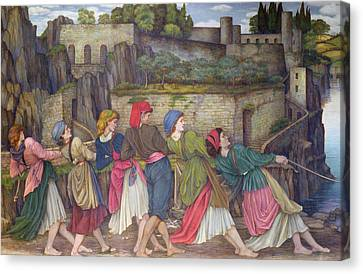 The Women Of Sorrento Canvas Print by John Roddam Spencer Stanhope