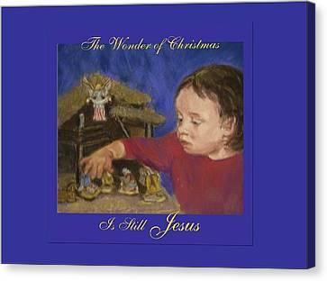 The Wonder Of Christmas Canvas Print by Harriett Masterson