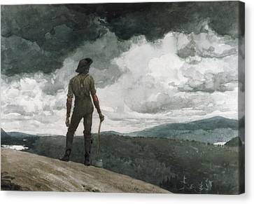 The Woodcutter Canvas Print by Celestial Images