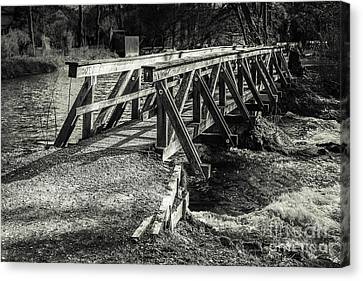 The Wooden Bridge Canvas Print by Hannes Cmarits