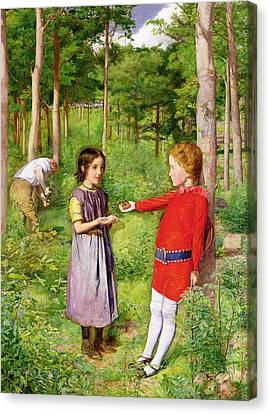 The Woodmans Daughter Canvas Print by Sir John Everett Millais