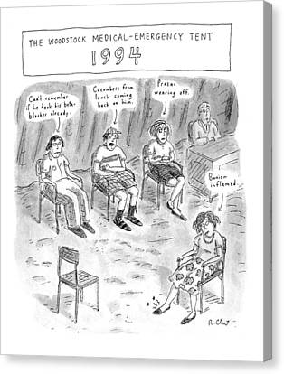 The Woodstock Medical-emergency Tent 1994 Canvas Print by Roz Chast