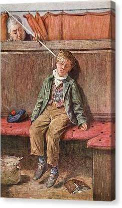 The Word And A Blow, 1875 Canvas Print